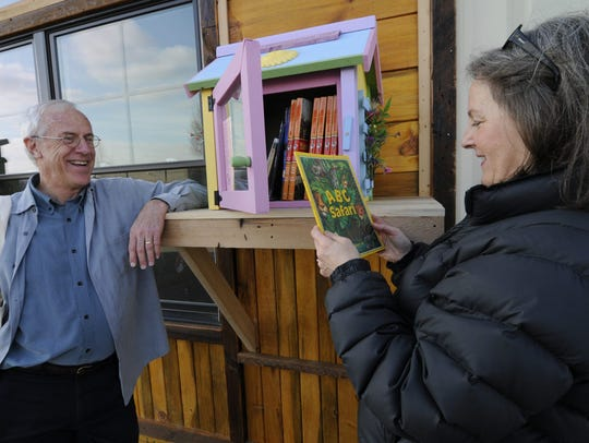 Little Free Library co-founder Rick Brooks plans to