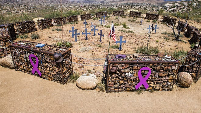 This is the deployment site where 19 Granite Mountain Hotshots died fighting the Yarnell Hill Fire on June 30, 2013. It is now part of the Granite Mountain Hotshots Memorial State Park.
