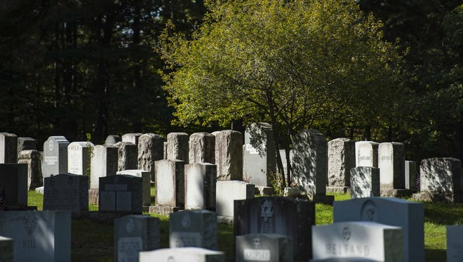 The Hebrew Holy Society Cemetery in South Burlington on Monday, October 5, 2015.