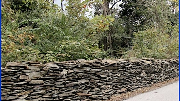 Dry Stone Wall along Lower Glades Road, Springettsbury Township, York County, PA (2015 Photo, S. H. Smith)