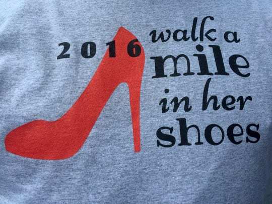 Organized by New Directions, Inc., Walk a Mile in Her Shoes is a relay race and community event to recognize and provide support to local victims and raise awareness of domestic and sexual violence in the area.