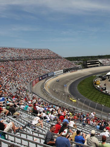 A general view from of the race track during the FedEx