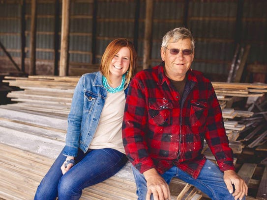 Dawn Backes and Dan Klimesh comprise the father/daughter