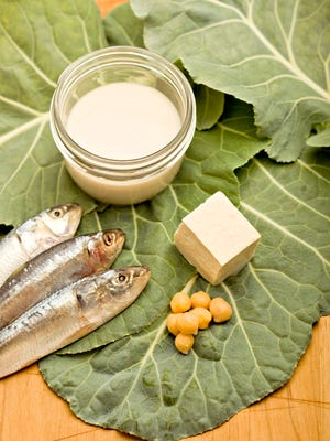 Collard greens, tofu, beans and sardines are good sources of calcium if you don't drink milk.
