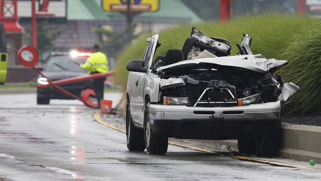 Speedway police are investigating a serious vehicle crash leaving one person dead in the 5600 block of Crawfordsville Road Sunday, July 3, 2016, afternoon in Speedway.