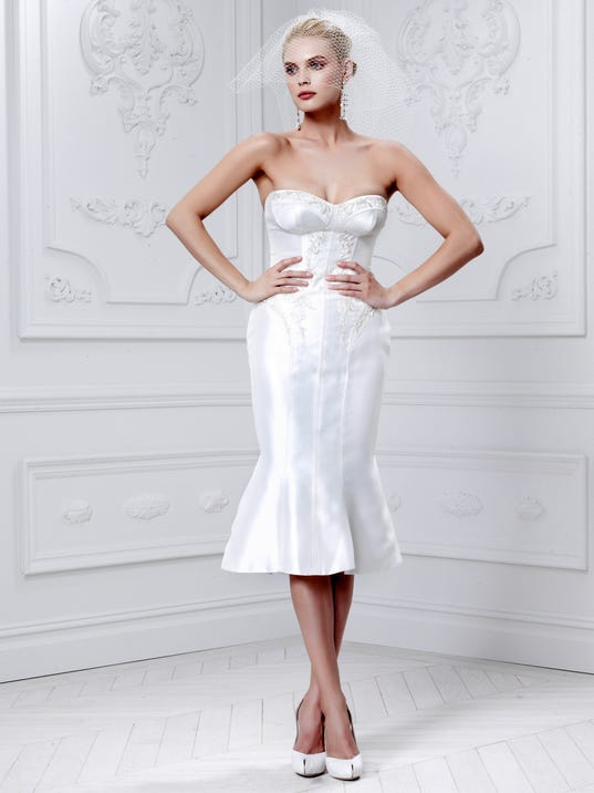 Brides show short wedding gowns more of the love for Zac posen short wedding dress
