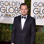 Leonardo DiCaprio arrives at the 73rd annual Golden Globe Awards on Sunday at the Beverly Hilton Hotel in Beverly Hills, Calif.