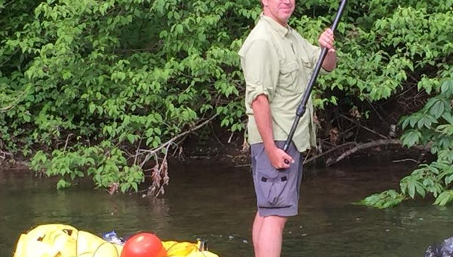 Dr. Chris Lechner of Asheville paddled the entire French Broad River by standup paddleboard.