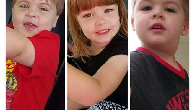 Christmas gifts for Tiffany Kendall's three children (pictured) were stolen over the weekend.