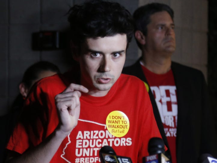 Noah Karvelis, Arizona Educators United organizer and