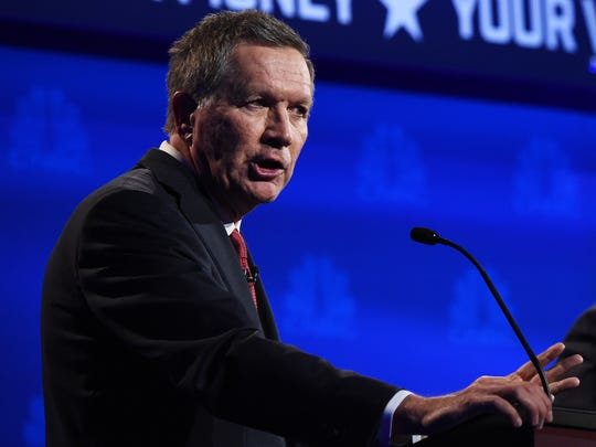 Ohio Gov. John Kasich speaks during the CNBC Republican