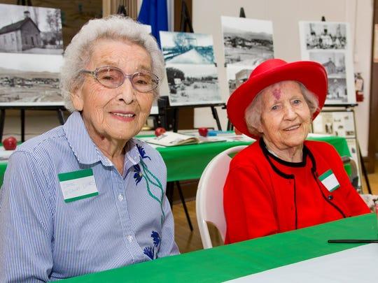 Irene McCauley Luhrs, 95, (left) and Mae Walmsley,