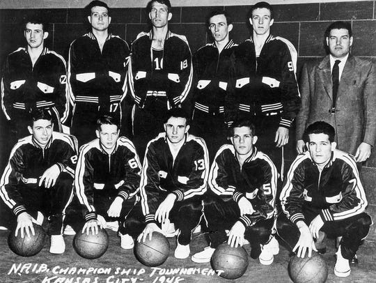 The 1947-48 Louisville Cardinals basketball team, pictured