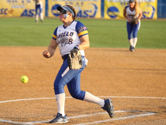 Angelo State University's Brandy Marlett unleashes