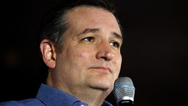 Sen. Ted Cruz speaks during a campaign stop in Hollis, N.H., on Jan. 20, 2016.