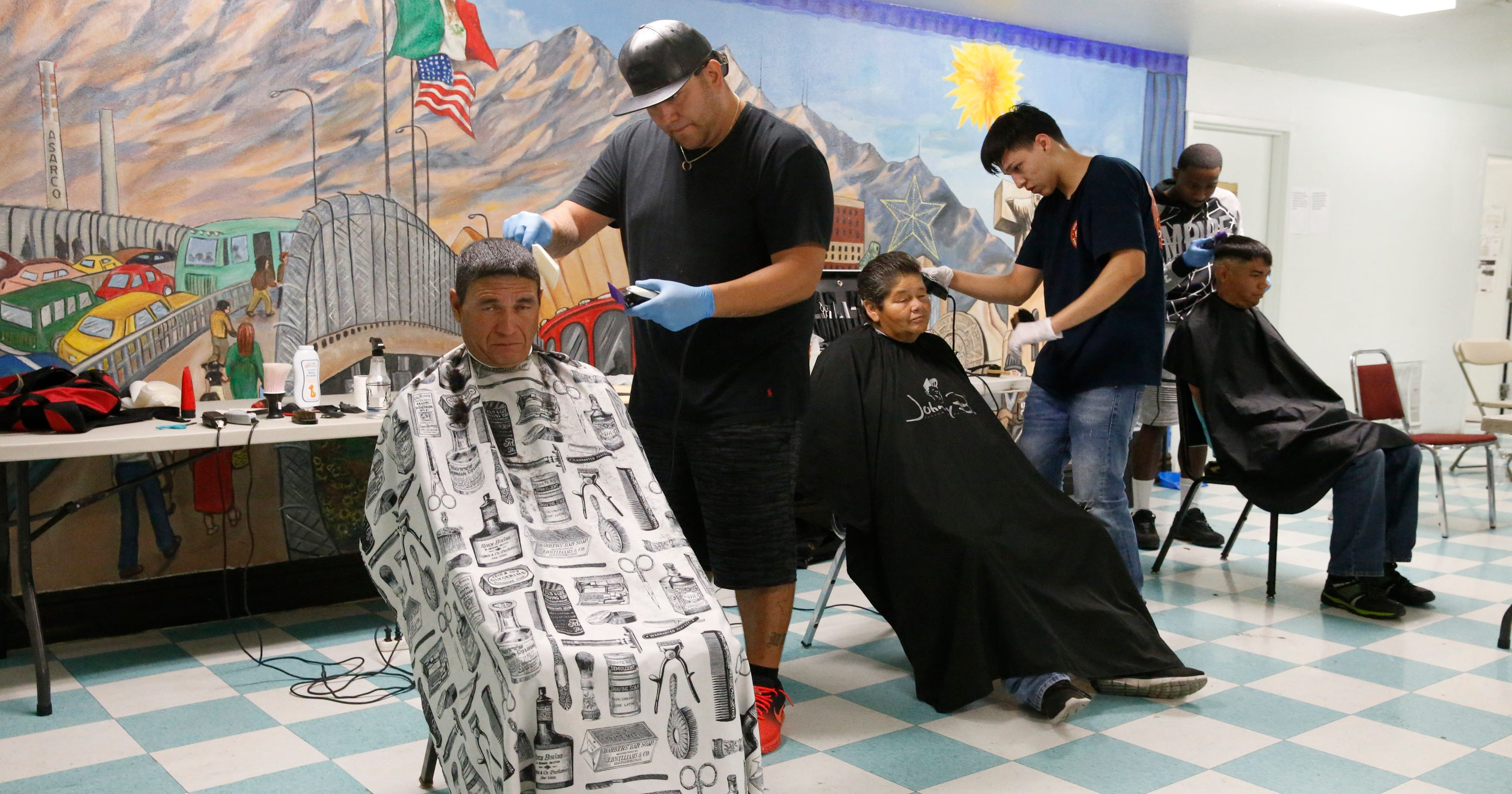Pima Medical Institute Gives Homeless Haircuts At Opportunity Center