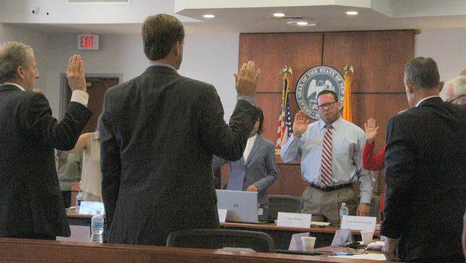 The 12th Judicial District Nominating Commission convened Thursday. After being sworn in, the members interviewed five applicants then sent three names to Gov. Susana Martinez for consideration.