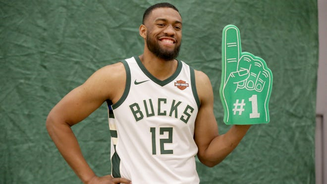 Bucks forward Jabari Parker is still working his way back from a torn ACL in his left knee.