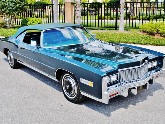 This 1976 Cadillac Eldorado is scheduled for auction at Barrett-Jackson Scottsdale on Wednesday, Jan. 18, 2017.