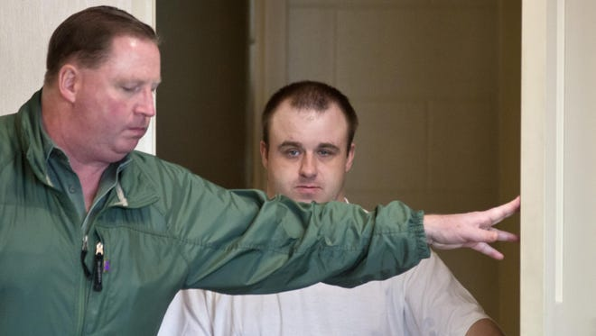 Allen Prue appears on the first day of jury draw in his trial for the murder of Melissa Jenkins in Vermont Superior Court in Burlington on Monday, October 6, 2014.