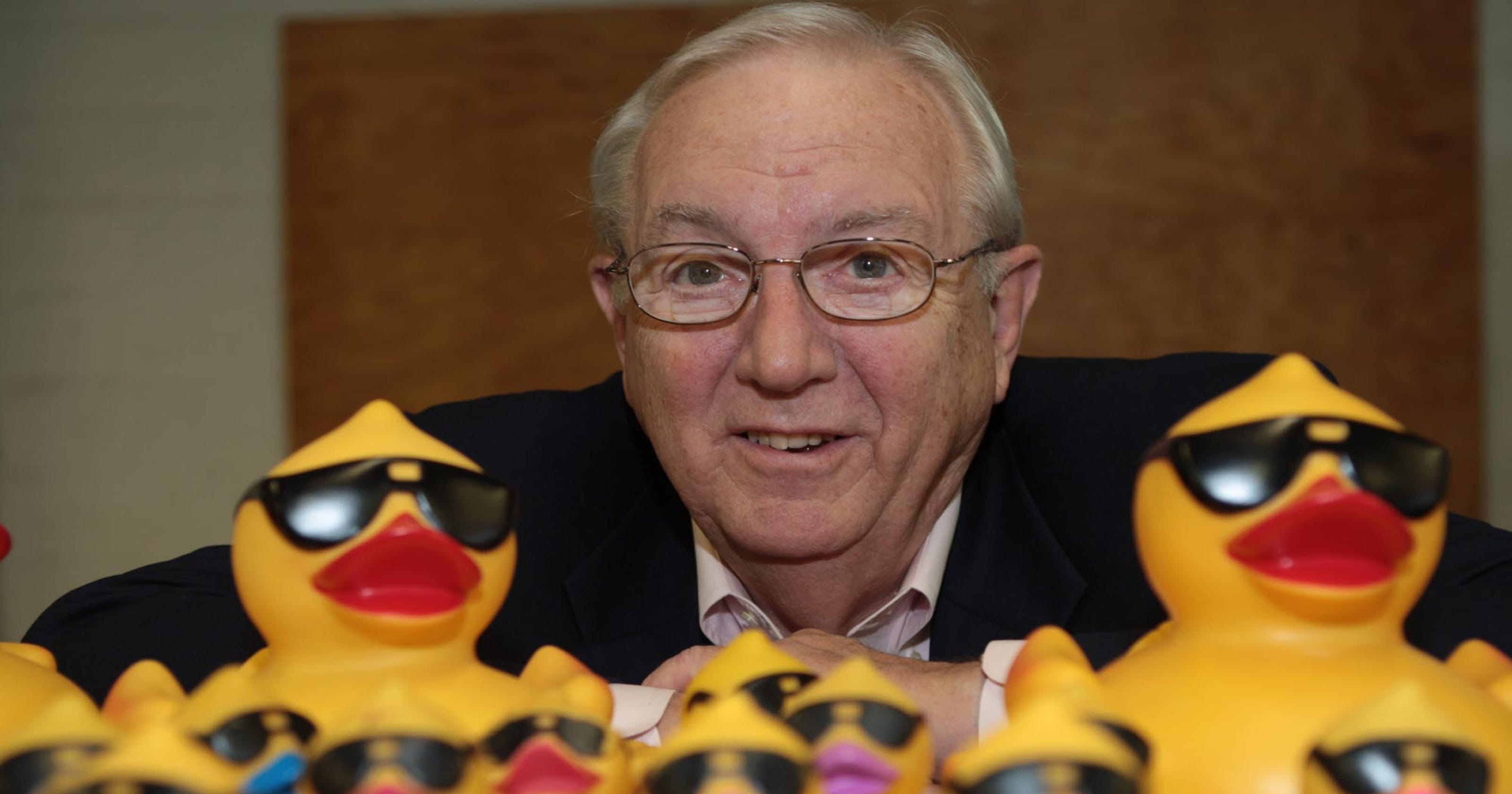 The man behind all those ducks