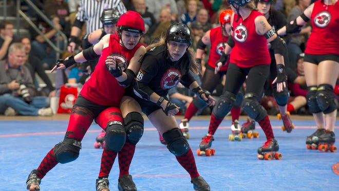 The Naptown Roller Girls during a 2012 bout.