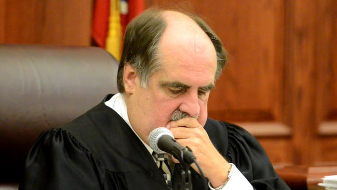 Judge Rick Wood presided over a hearing scheduled for Mark Pearcy on Monday in Decaturville.