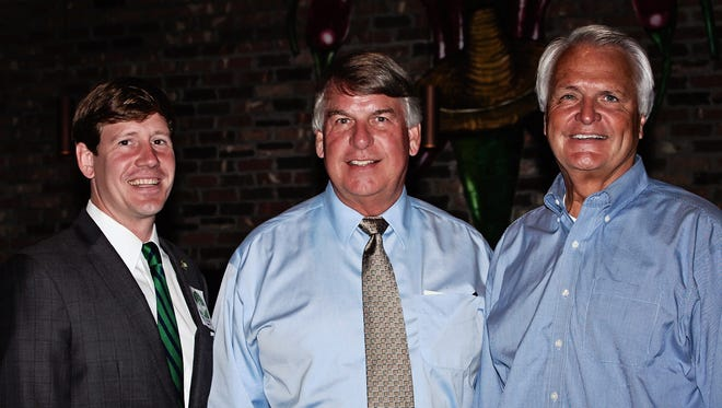 State Sen. Brian Kelsey, Senate candidate Ed Jackson and Lt. Gov. Ron Ramsey attend the Madison County Republican Party meeting at Coyote Blues on Monday.