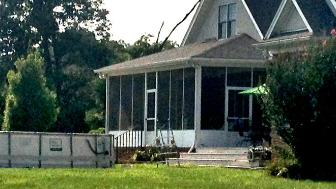 A house on Roy Arnold Road was the scene of a near drowning Wednesday afternoon.