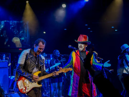Roy Hay (left) and Boy George of Culture Club  perform