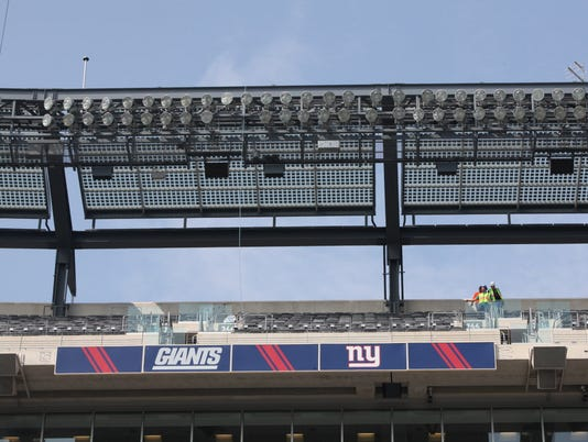 Solar panels at MetLife Stadium