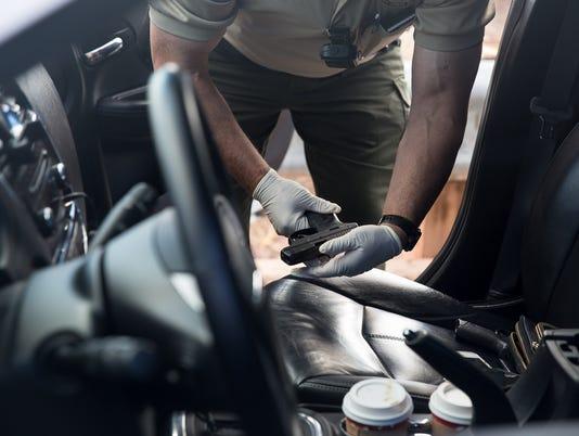 Navajo County Sheriff's deputy pistol seizure