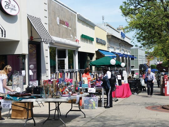 Ridgewood Chamber of Commerce Sidewalk Sale.