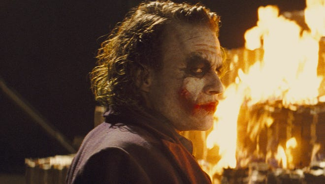 "Heath Ledger's Joker lets it all burn in ""The Dark Knight."""
