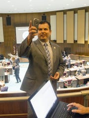 Rep. Mark Cardenas, D-Phoenix, said marijuana legalization