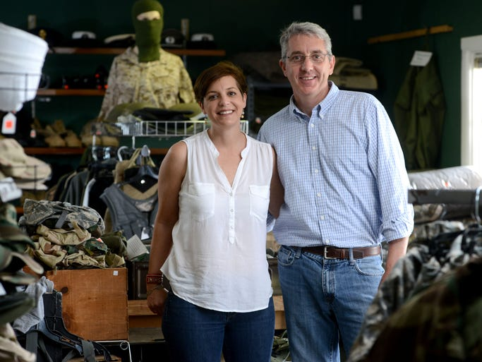 Susanna and Andy Tempesta have owned the Old Foot Locker Military Surplus store on Navy Boulevard for roughly 10 years.