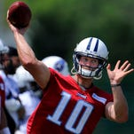 Titans quarterback Jake Locker has progressed well after Lisfranc surgery in November.