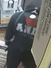 Another angle of the suspect who pulled an armed robbery