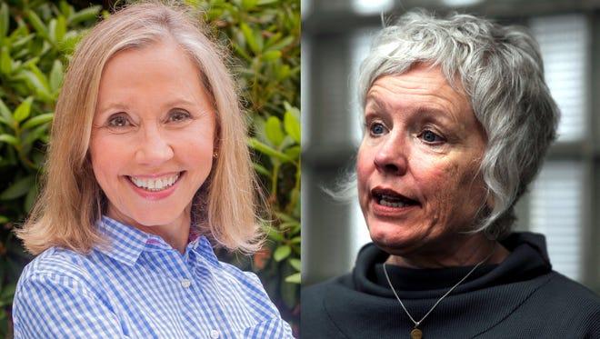 Sen. Terry Van Duyn, left, and Rep. Susan Fisher