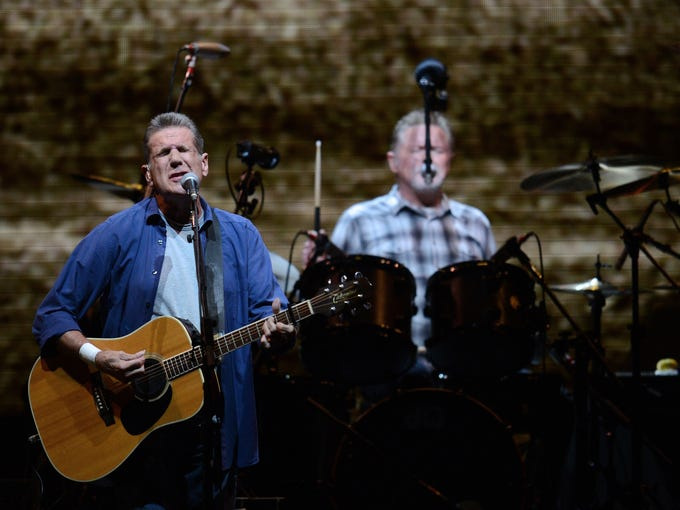 Glenn Frey and Don Henley of The Eagles perform during