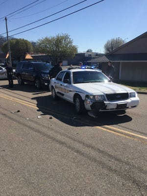 A KCSO cruiser was involved in a head-on crash Thursday afternoon.