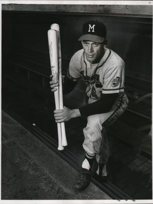 Mike Krsnich, a former all-around athlete at West Allis Central high school, is the first Milwaukeean ever to play with the Braves. He was acquired from the Braves' Sacramento farm club for utility and pinch hitting duty.