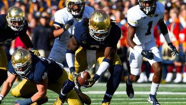 Notre Dame's Jaylon Smith suffered a torn ACL on Jan.