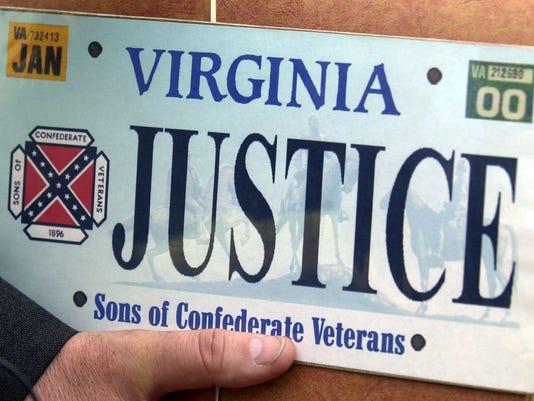 Confederate Flag Virginia Plates