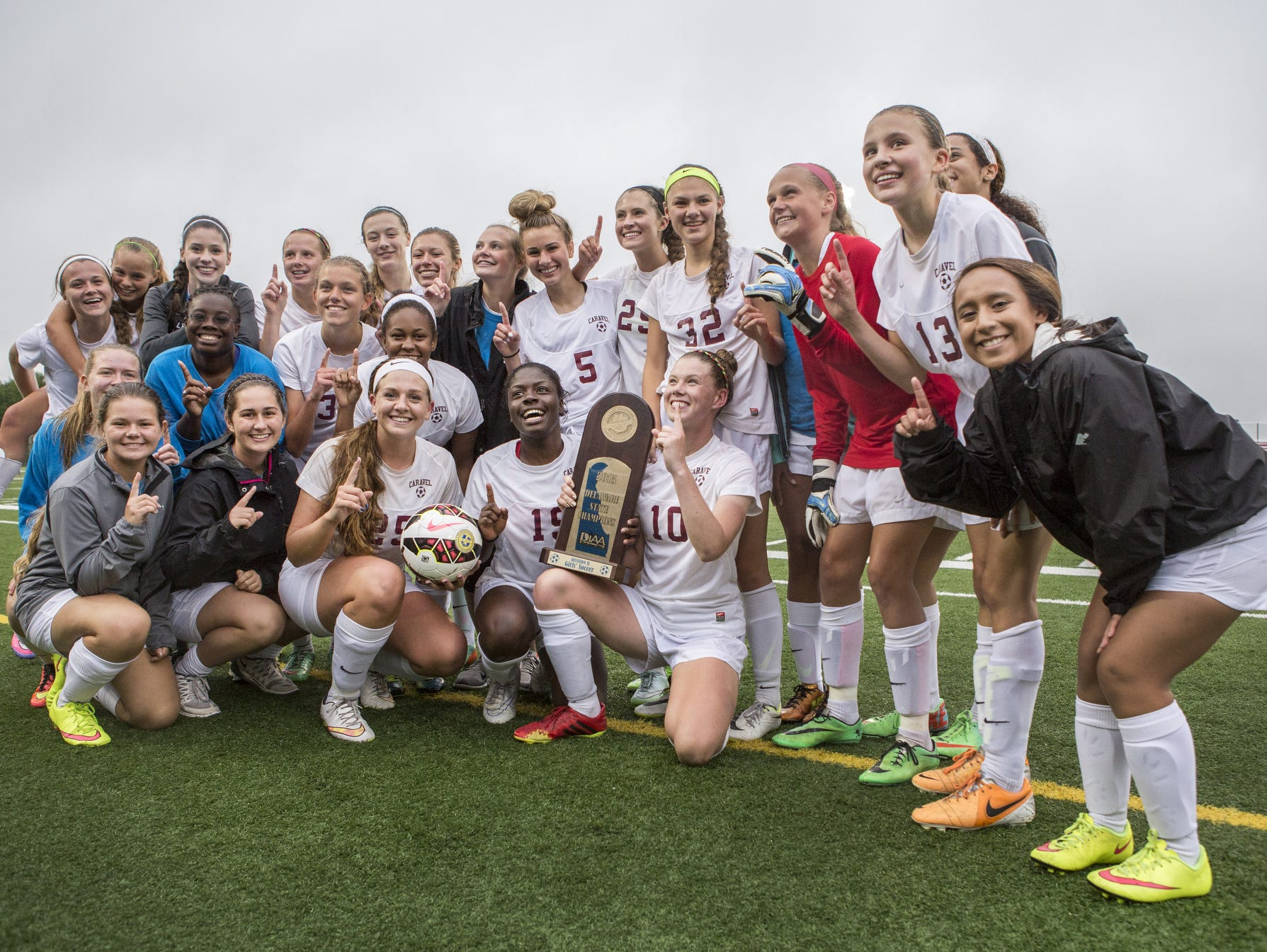 Caravel is out to defend its DIAA Division II girls soccer title.