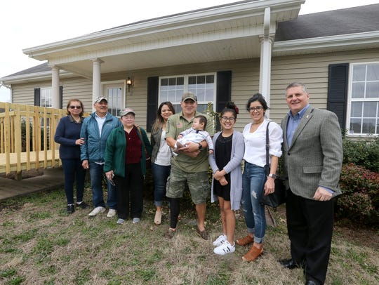 Wounded Army Soldier Cahin Perez and his family receive
