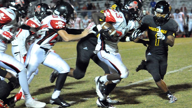 Merritt Island and Palm Bay, two playoff teams, dueled earlier this season with Merritt Island picking up a narrow victory.