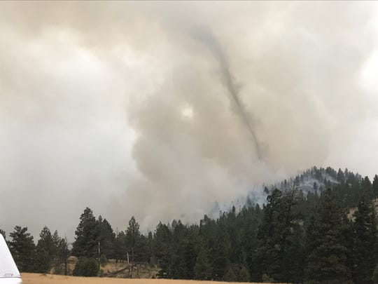 The Alice Creek fire blew up again at about 6 a.m. Sunday.