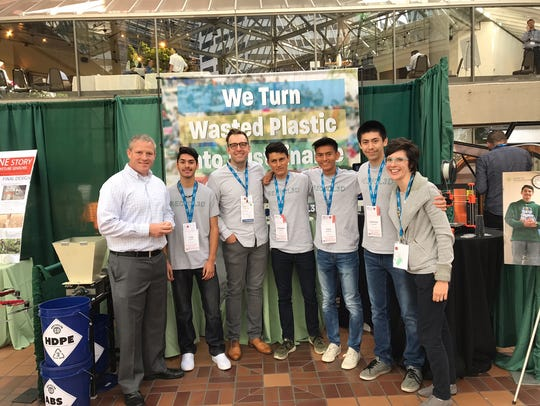 Four students from McKay High School's Math Engineering