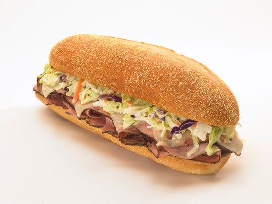 The Capastrami sub at Capriotti's Sandwich Shop features hot pastrami.